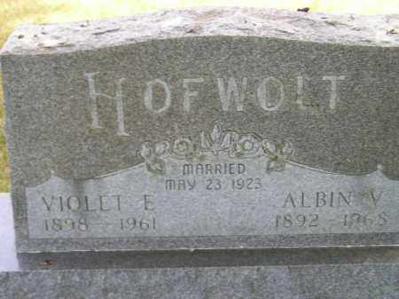 HOFWOLT, ALBIN V. - McCook County, South Dakota | ALBIN V. HOFWOLT - South Dakota Gravestone Photos