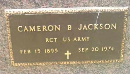 JACKSON, CAMERON B. (MILITARY) - McCook County, South Dakota | CAMERON B. (MILITARY) JACKSON - South Dakota Gravestone Photos