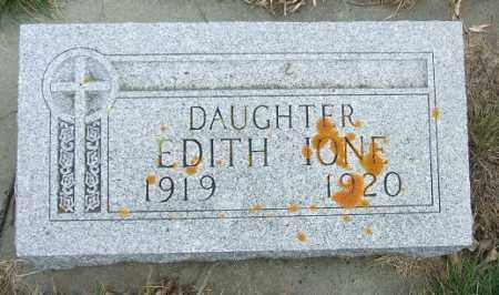 JOHNSON, EDITH IONE - McCook County, South Dakota   EDITH IONE JOHNSON - South Dakota Gravestone Photos