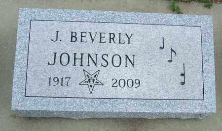 JOHNSON, J. BEVERLY - McCook County, South Dakota | J. BEVERLY JOHNSON - South Dakota Gravestone Photos