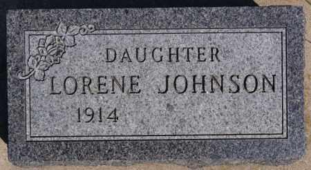 JOHNSON, LORENE - McCook County, South Dakota   LORENE JOHNSON - South Dakota Gravestone Photos