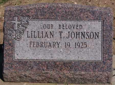 JOHNSON, LILLIAN T - McCook County, South Dakota   LILLIAN T JOHNSON - South Dakota Gravestone Photos