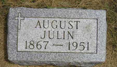 JULIN, AUGUST - McCook County, South Dakota | AUGUST JULIN - South Dakota Gravestone Photos