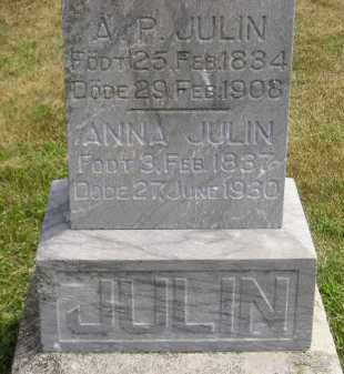 JULIN, ANNA - McCook County, South Dakota | ANNA JULIN - South Dakota Gravestone Photos