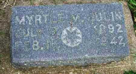 JULIN, MYRTLE M. - McCook County, South Dakota | MYRTLE M. JULIN - South Dakota Gravestone Photos