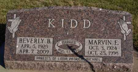 KIDD, MARVIN E - McCook County, South Dakota | MARVIN E KIDD - South Dakota Gravestone Photos