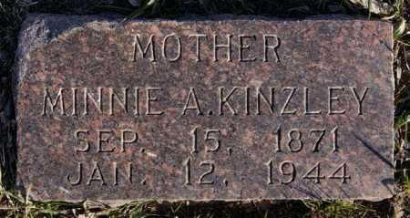 KINZLEY, MINNIE A - McCook County, South Dakota | MINNIE A KINZLEY - South Dakota Gravestone Photos