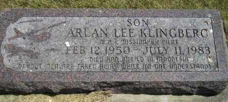 KLINGBERG, ARLAN LEE - McCook County, South Dakota | ARLAN LEE KLINGBERG - South Dakota Gravestone Photos