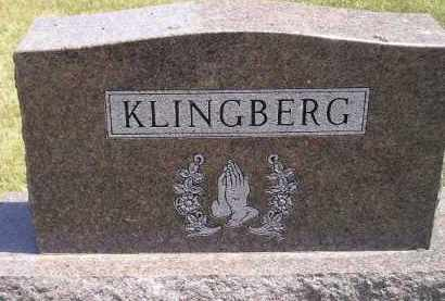 KLINGBERG, FAMILY STONE - McCook County, South Dakota | FAMILY STONE KLINGBERG - South Dakota Gravestone Photos
