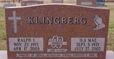 KLINGBERG, RALPH I - McCook County, South Dakota | RALPH I KLINGBERG - South Dakota Gravestone Photos
