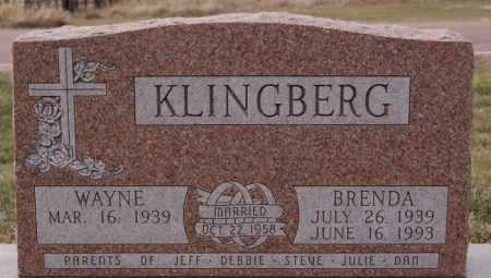 KLINGBERG, WAYNE - McCook County, South Dakota | WAYNE KLINGBERG - South Dakota Gravestone Photos