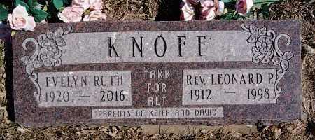 KNOFF, LEONARD P (REV.) - McCook County, South Dakota | LEONARD P (REV.) KNOFF - South Dakota Gravestone Photos
