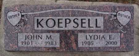 KOEPSELL, LYDIA E - McCook County, South Dakota | LYDIA E KOEPSELL - South Dakota Gravestone Photos
