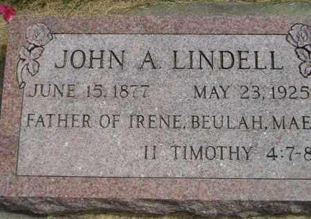 LINDELL, JOHN A. - McCook County, South Dakota | JOHN A. LINDELL - South Dakota Gravestone Photos