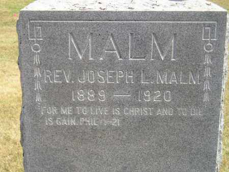MALM, JOSEPH L. (REV.) - McCook County, South Dakota | JOSEPH L. (REV.) MALM - South Dakota Gravestone Photos