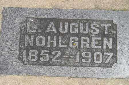 NOHLGREN, L. AUGUST - McCook County, South Dakota | L. AUGUST NOHLGREN - South Dakota Gravestone Photos