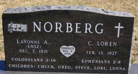 NORBERG, LAVONNE A - McCook County, South Dakota | LAVONNE A NORBERG - South Dakota Gravestone Photos