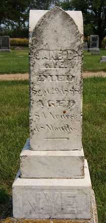 NYE, JANE D - McCook County, South Dakota   JANE D NYE - South Dakota Gravestone Photos
