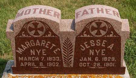 NYE, JESSE A - McCook County, South Dakota | JESSE A NYE - South Dakota Gravestone Photos