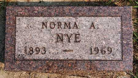 NYE, NORMA A - McCook County, South Dakota | NORMA A NYE - South Dakota Gravestone Photos