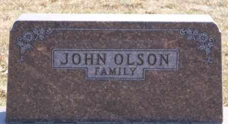 OLSON, FAMILY MARKER - McCook County, South Dakota | FAMILY MARKER OLSON - South Dakota Gravestone Photos