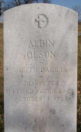 OLSON, ALBIN (MILITARY) - McCook County, South Dakota   ALBIN (MILITARY) OLSON - South Dakota Gravestone Photos