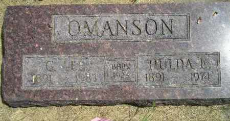 OMANSON, BABY - McCook County, South Dakota | BABY OMANSON - South Dakota Gravestone Photos
