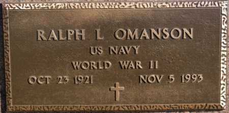 OMANSON, RALPH L ( WW II) - McCook County, South Dakota   RALPH L ( WW II) OMANSON - South Dakota Gravestone Photos
