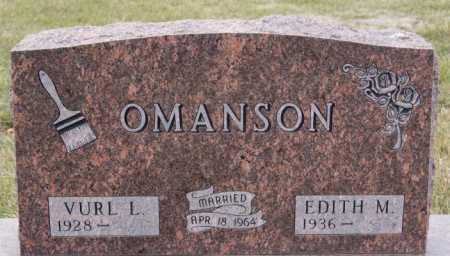 OMANSON, VURL L - McCook County, South Dakota | VURL L OMANSON - South Dakota Gravestone Photos