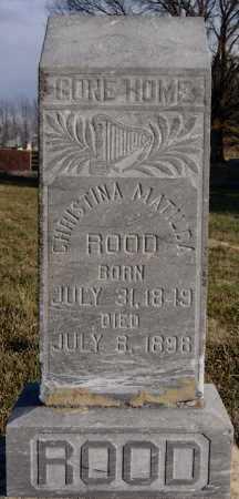 ROOD, CHRISTINA MATILDA - McCook County, South Dakota   CHRISTINA MATILDA ROOD - South Dakota Gravestone Photos