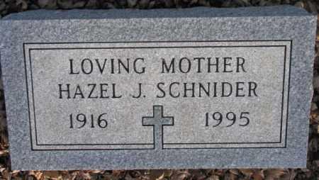 SCHNIDER, HAZEL J. - McCook County, South Dakota   HAZEL J. SCHNIDER - South Dakota Gravestone Photos