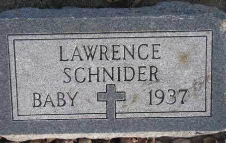 SCHNIDER, LAWRENCE - McCook County, South Dakota | LAWRENCE SCHNIDER - South Dakota Gravestone Photos