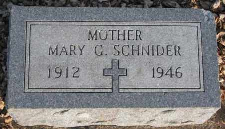 SCHNIDER, MARY G. - McCook County, South Dakota | MARY G. SCHNIDER - South Dakota Gravestone Photos