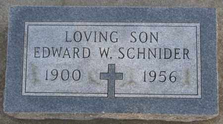 SCHNIDER, EDWARD W - McCook County, South Dakota | EDWARD W SCHNIDER - South Dakota Gravestone Photos