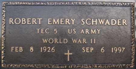 SCHWADER, ROBERT EMERY (WWII) - McCook County, South Dakota   ROBERT EMERY (WWII) SCHWADER - South Dakota Gravestone Photos