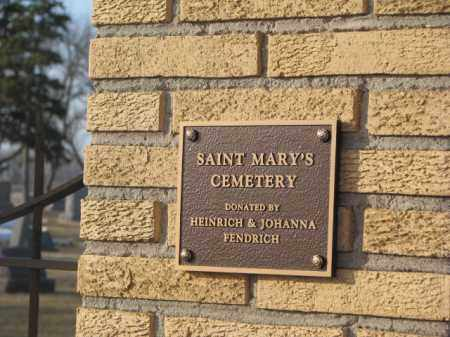 *ST. MARY'S, ENTRY SIGN - McCook County, South Dakota   ENTRY SIGN *ST. MARY'S - South Dakota Gravestone Photos