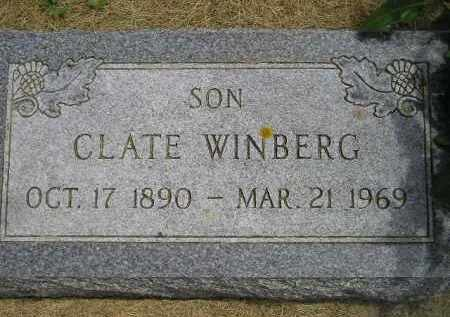 WINBERG, CLATE - McCook County, South Dakota | CLATE WINBERG - South Dakota Gravestone Photos
