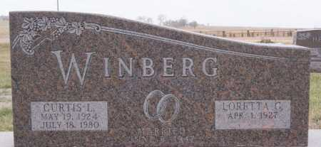 WINBERG, CURTIS L - McCook County, South Dakota | CURTIS L WINBERG - South Dakota Gravestone Photos