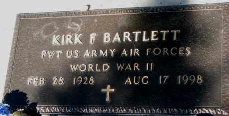 BARTLETT, KIRK F. - Mellette County, South Dakota | KIRK F. BARTLETT - South Dakota Gravestone Photos