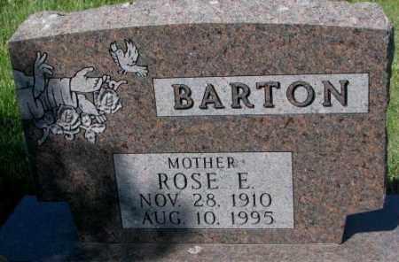 BARTON, ROSE E. - Mellette County, South Dakota | ROSE E. BARTON - South Dakota Gravestone Photos