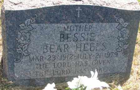 BEAR HEELS, BESSIE - Mellette County, South Dakota | BESSIE BEAR HEELS - South Dakota Gravestone Photos