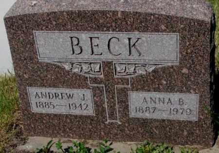 BECK, ANDREW J. - Mellette County, South Dakota | ANDREW J. BECK - South Dakota Gravestone Photos