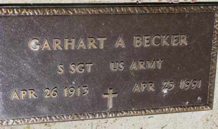 BECKER, GARHART A. (MILITARY) - Mellette County, South Dakota | GARHART A. (MILITARY) BECKER - South Dakota Gravestone Photos