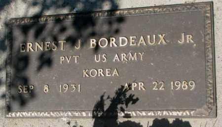 BORDEAUX, ERNEST J. JR. - Mellette County, South Dakota | ERNEST J. JR. BORDEAUX - South Dakota Gravestone Photos