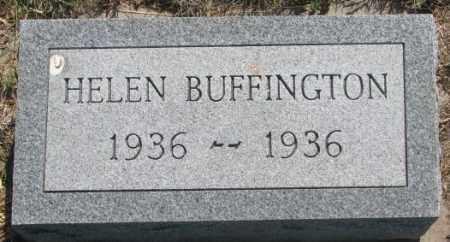 BUFFINGTON, HELEN - Mellette County, South Dakota | HELEN BUFFINGTON - South Dakota Gravestone Photos