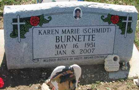 SCHMIDT BURNETTE, KAREN MARIE - Mellette County, South Dakota | KAREN MARIE SCHMIDT BURNETTE - South Dakota Gravestone Photos