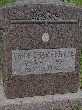 CHIEF CHARGING ELK, . - Mellette County, South Dakota | . CHIEF CHARGING ELK - South Dakota Gravestone Photos