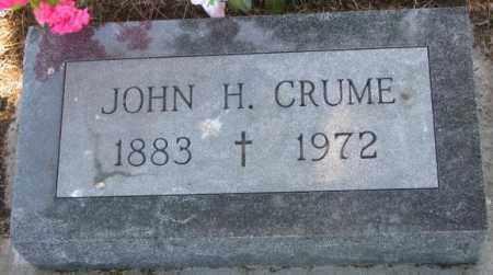 CRUME, JOHN H. - Mellette County, South Dakota | JOHN H. CRUME - South Dakota Gravestone Photos