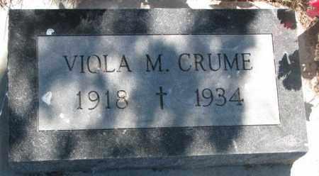 CRUME, VIOLA M. - Mellette County, South Dakota | VIOLA M. CRUME - South Dakota Gravestone Photos