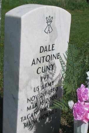 CUNY, DALE ANTOINE - Mellette County, South Dakota | DALE ANTOINE CUNY - South Dakota Gravestone Photos